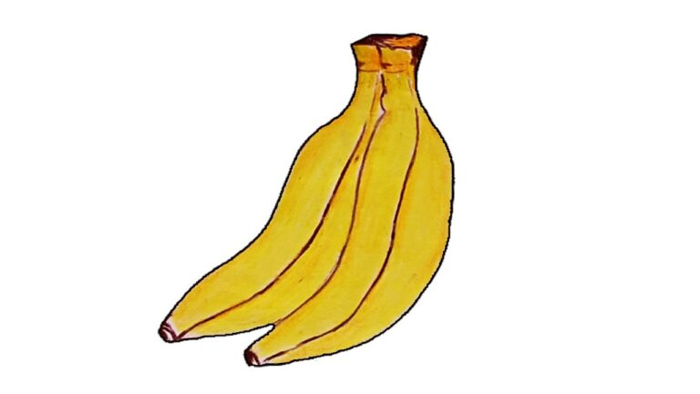 How to Draw a Banana step by Step 2021