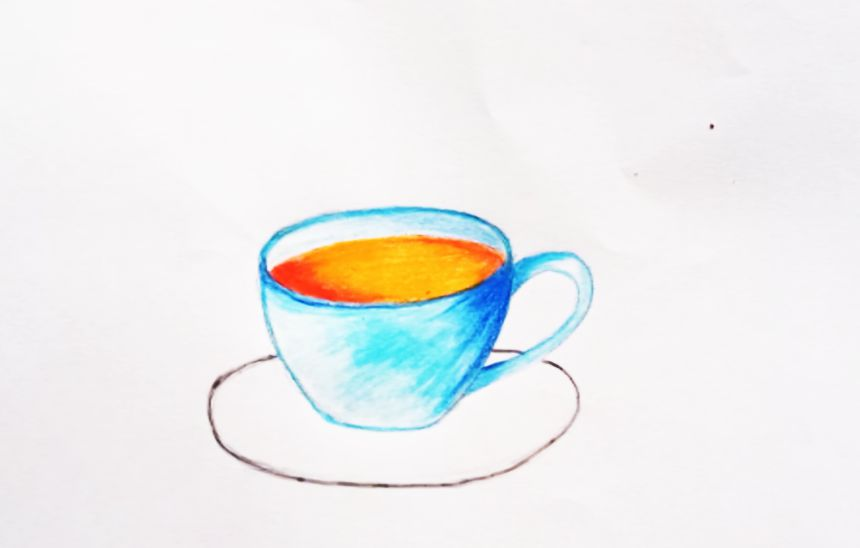 How to draw a coffee cup